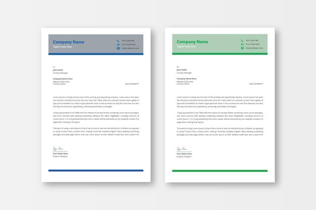 Professionelles und modernes briefpapier