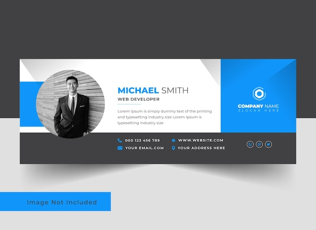 Professionelles und sauberes vorlagendesign für e-mail-signaturen