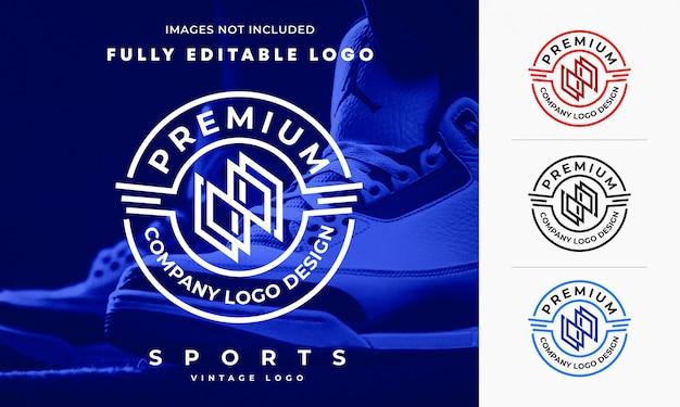 Professionelles vintage sport logo