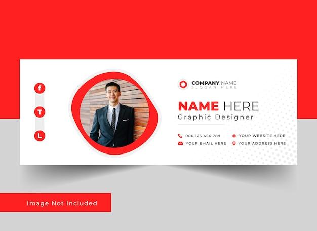 Professionelles vorlagendesign für e-mail-signaturen