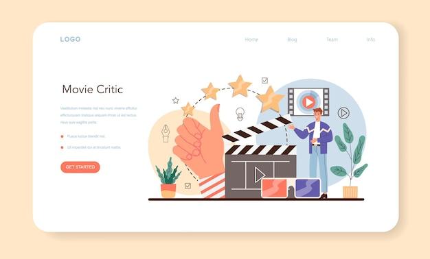 Professionelles webbanner oder zielseite für kritiker