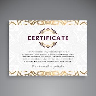 Professionelles zertifikat template design