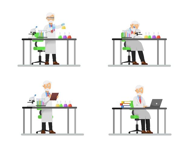 Professorentätigkeit im labor