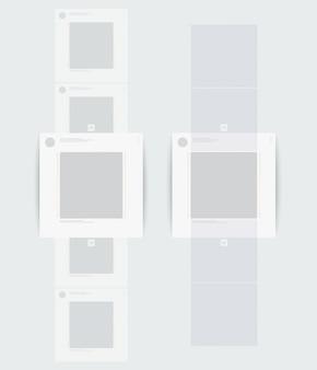Profil der mobilen seite mit vertikalem bildlauf.
