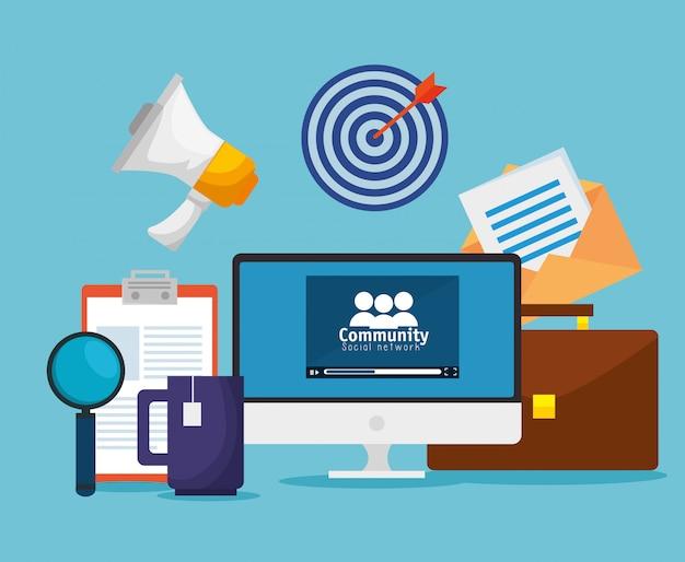 Profil der sozialen gemeinschaft zur kooperationsnachricht