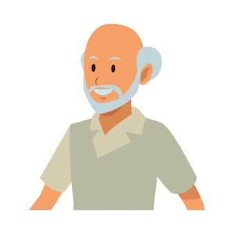 Profil des alten mannes