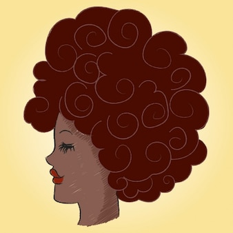 Profil von einer afro frau mit black