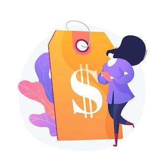 Profitable preisstrategie. preisbildung, werbemaßnahme, gestaltungselement der räumungseinkaufsidee. günstige produktwerbung, kundenattraktion.