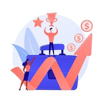 Profitabler geschäftsführer. erfolgreicher unternehmer, professionelle führung, einkommensstarker unternehmer. finanzielle erfolgsleistung.