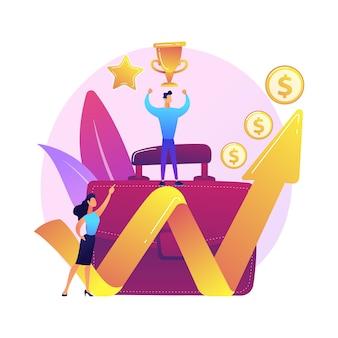Profitabler geschäftsführer. erfolgreicher unternehmer, professionelle führung, einkommensstarker unternehmer. finanzielle erfolgsleistung