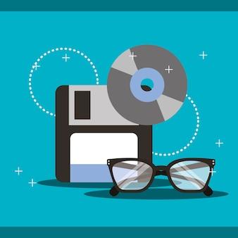 Programm-codierung disketten-cd-brille