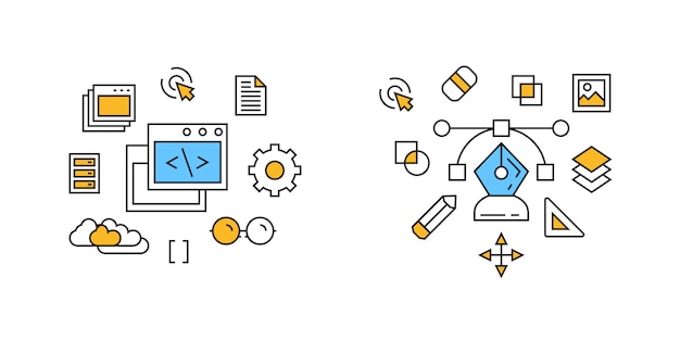 Programm- und designillustration