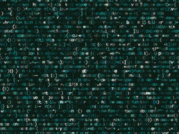 Programmcode, der buntes bakcground schimmert.
