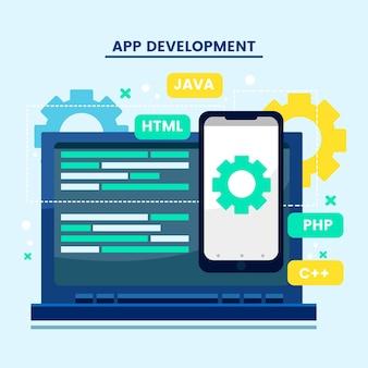Programmier- und app-entwicklungskonzept
