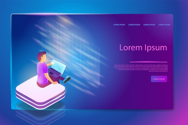 Programmierdienst in augmented reality web banner