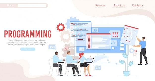 Programmieren und codieren service-flat landing page