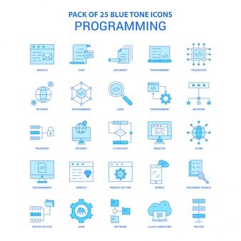 Programmieren von blue tone icon pack