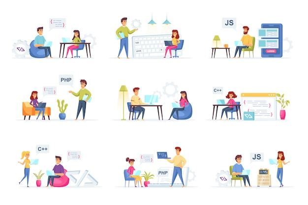 Programmieren von personenzeichen für sammlungen