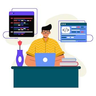Programmierer flache illustration