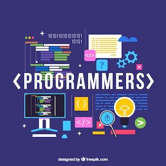 Programmierer-konzept mit flachem design