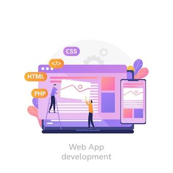 Programmierung und codierung von websites, web- und app-entwicklung. webdesigner