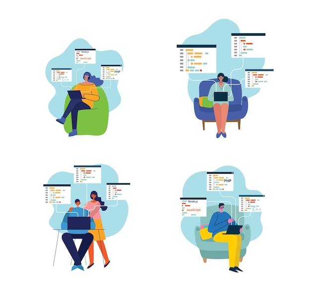 Programmierung und codierung, website-entwicklung, webdesign.