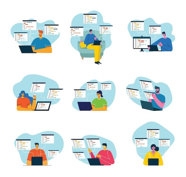 Programmierung und codierung, website-entwicklung