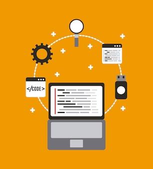 Programmierung und programmierung der website-entwicklung