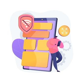 Progressive web app app abstrakte konzeptillustration