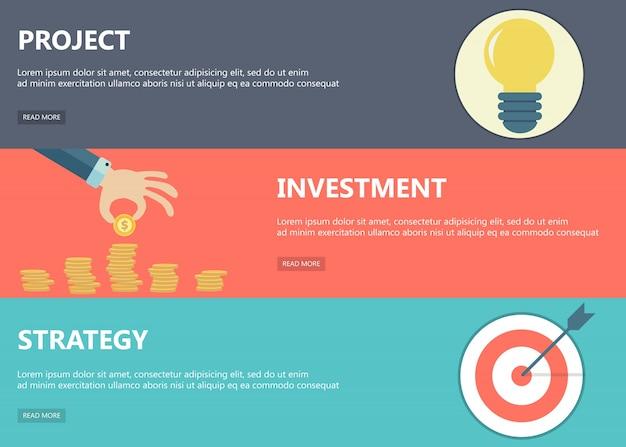 Projekt, investitionen, strategie banner