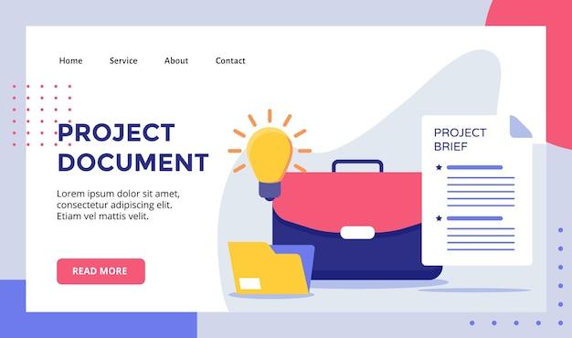 Projektdokument für die website