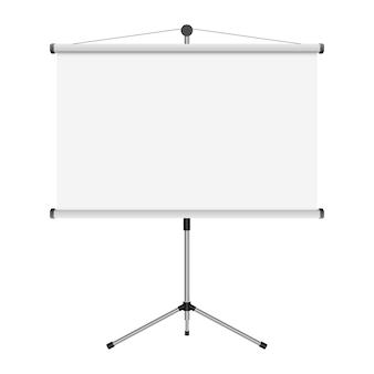Projektionsbildschirmillustration auf weißem hintergrund