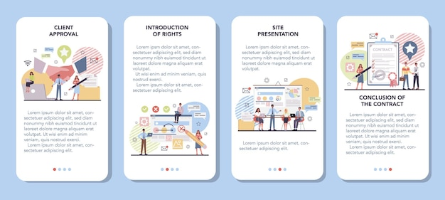 Projektmanagement-banner für mobile anwendungen