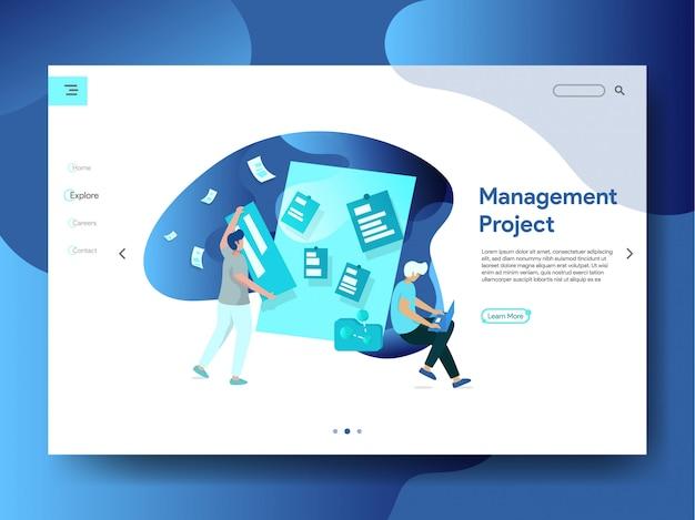 Projektmanagement illustartion