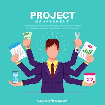 Projektmanagement-konzept