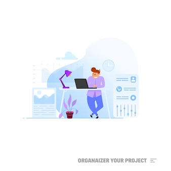 Projektmanager-konzept