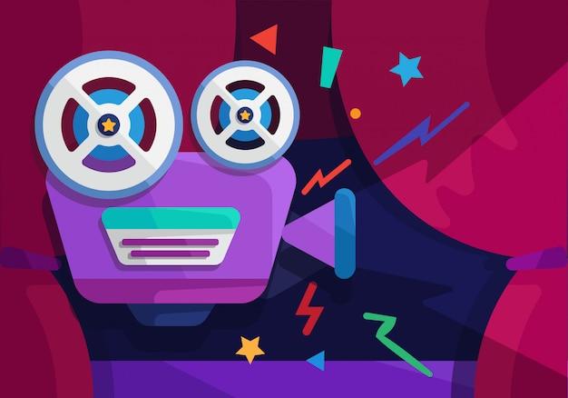 Projektor filmshow abspielen