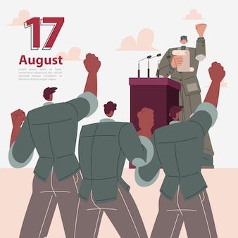 Proklamation der unabhängigkeit indonesiens