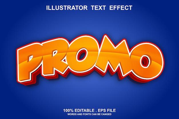 Promo-texteffekt editierbar Premium Vektoren