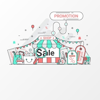 Promotion-banner-design-konzept