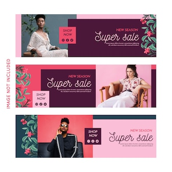 Promotion fashion banner sammlung