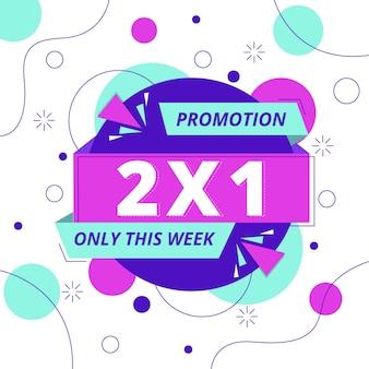 Promotion quadratisches banner mit einkaufsangebot