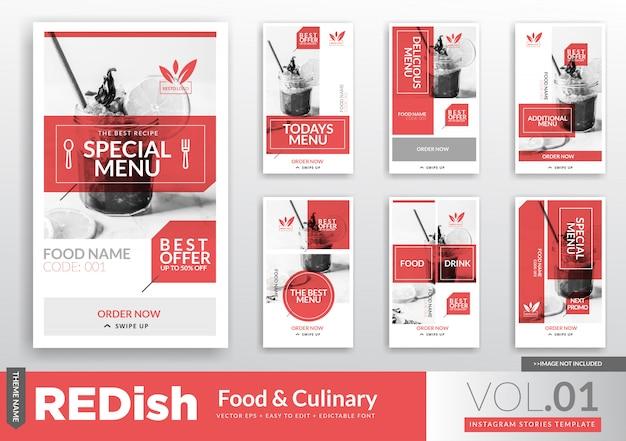 Promotion-vorlage für food & culinary instagram stories