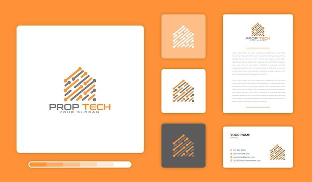 Prop tech logo design-vorlage