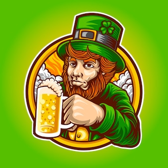 Prost auf st. patrick illustration
