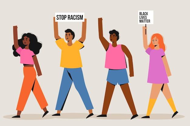 Protest gegen rassismuskonzept