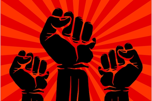 Protest rebell vektor revolution kunst poster