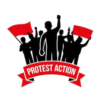 Protestaktion emblem