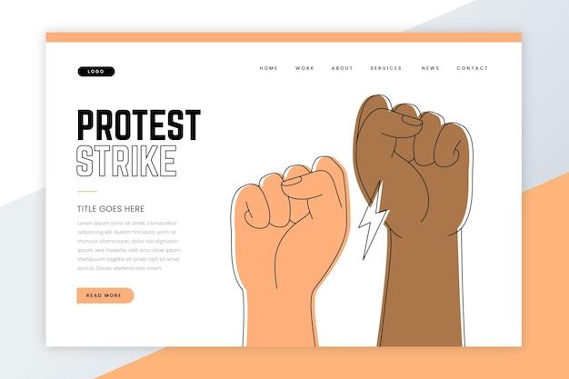 Proteststreik - landingpage