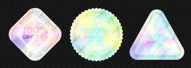 Prozent originales holografisches emblem-vorlagenset